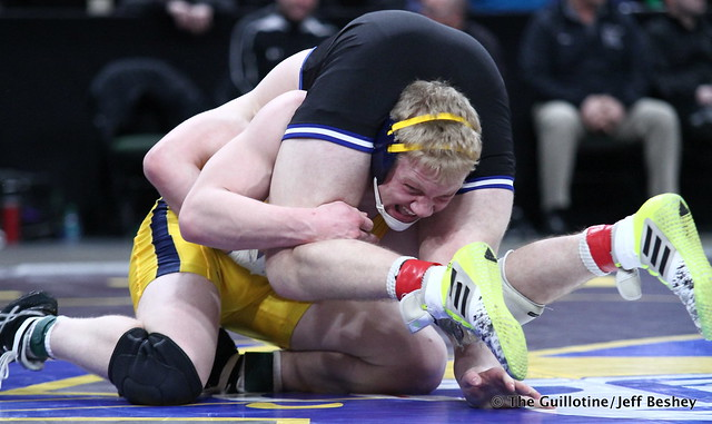 1st Place Match - Cade King (Owatonna) 44-0 won by decision over Calvin Sund (Prior Lake) 24-4 (Dec 6-4). 180303CJF0680