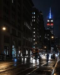 Rainy night on 5th Avenue
