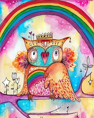 """This bird represents me embracing & celebrating (nay FLAUNTING) my """"too loud"""" """"too colourful"""" """"too big"""" """"too extravagant"""" qualities that have bothered people about me in the past. :) 🌈😆💕⭐️🙌:stuck_out_tongue_wi"""
