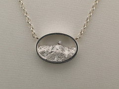 The Rockies Cont with dia pendant - Pikes Peak