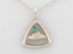 Rockies Pendant 11803 with 2.2mm AA Emerald