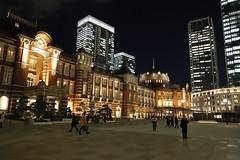 JR Tokyo Station at night