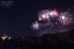 New Year's fireworks in Prague in 2018