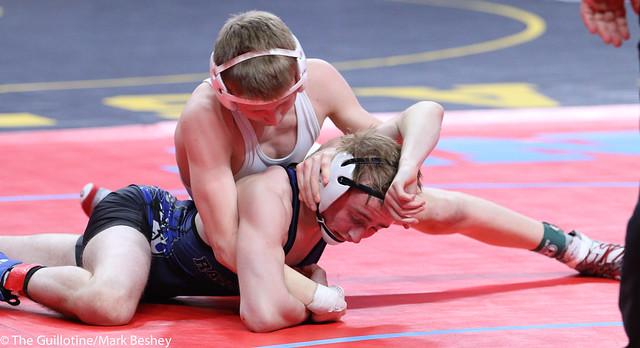 106A 3rd Place Match - Seth Goetzinger (Chatfield) 34-8 won by decision over Ethan Arett (Westfield Razorbacks) 32-10 (Dec 10-4) - 180303bmk0011