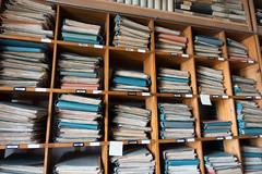 Een fractie van het enorme archief bij Steinmeyer Orgelbau.