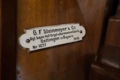 Detail van een Steinmeyer-speeltafel.