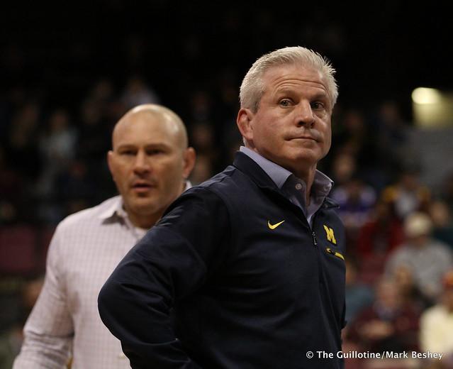 Michigan Coaches Sean Bormet and Joe McFarland 180121AMK0020