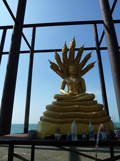 surreal pier, Buddhist college, Pattaya, Thailand