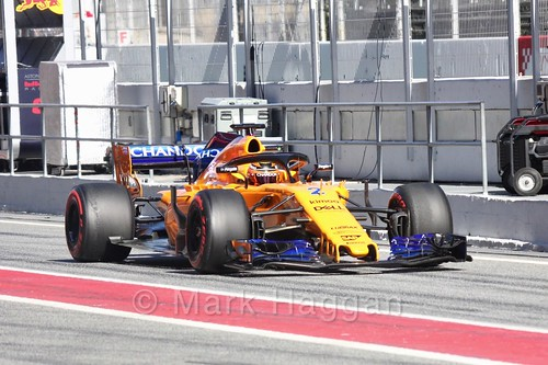 Stoffel Vandoorne during Formula One Winter Testing 2018