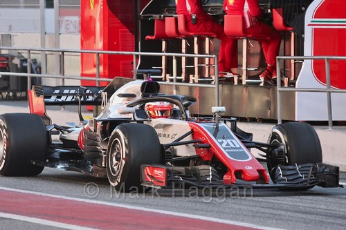 Kevin Magnussen in Formula One Winter Testing 2018