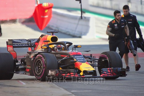 Max Verstappen in Formula One Winter Testing 2018