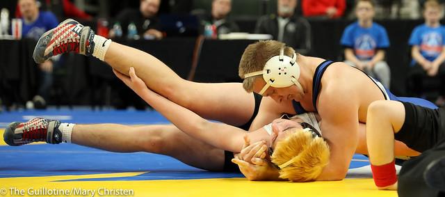 285 - Brett Paulson (Kasson-Mantorville) over Conner Tordsen (Fairmont-Martin County West) Fall 3:12. 180301EMC4195