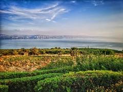 Lake Tiberias seen from Mount of Beatitudes