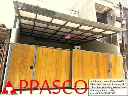 kanopi baja galvanis spandek grc besi di kelapa gading a photo on