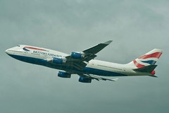 British Airways Boeing 747-400 from Heathrow T5