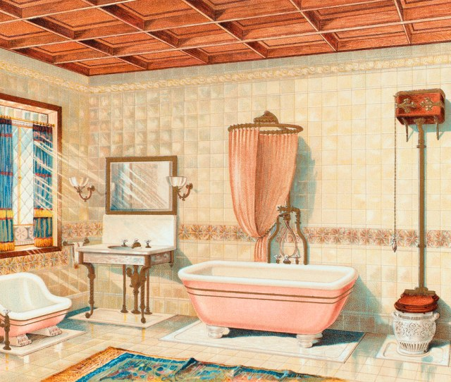 Vintage Bathroom Interior Published In   By J L Mott Iron Works Original From