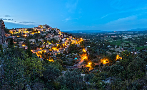 Blue hour in Gordes