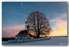 Sunset, Moon, Chapel