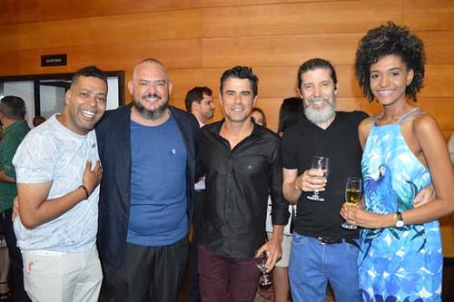 Claudiney Souza, Jéferson Rocha, Fabrizio Teixeira, Adão de Faria e namorada.