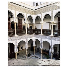 Day 1004 - Le Palais Des Raïs was a highlight of my tour around Algiers. In Andalusia and Morocco I didn't pass through any major cities so I haven't had a chance to see a great display of Moorish architecture. The horseshoe arches and zellige tiles are s
