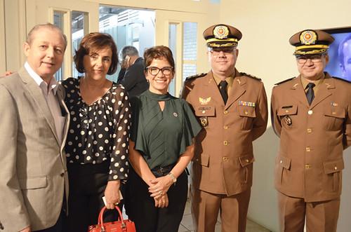 José Maria Facundes, Cassinha Carvalho, Alê Silva, tenente-coronel Lemos Dias e major Ademir - Foto Emmanuel Franco