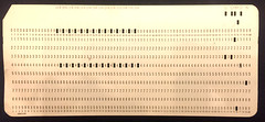 Punched card from a Fortran program
