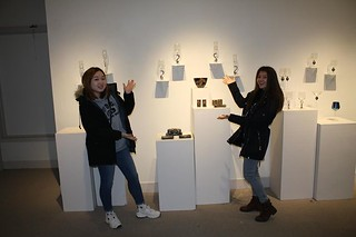 Checking out the art . . .