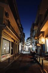 Narrow street at Plaka in Athens
