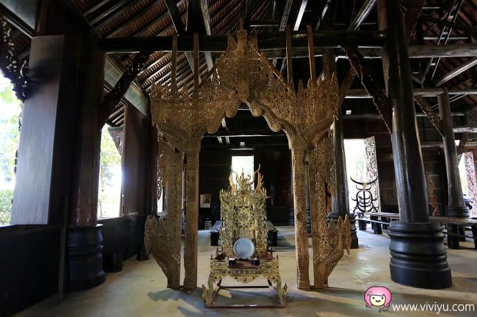 [清萊旅遊]黑屋博物館Baan Si Dum│清萊必遊三大廟之一.沒有供奉神佛的黑廟.Thawan Duchanee藝術家之大成 @VIVIYU小世界