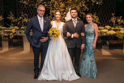 Juliana e Renato com os pais dela, José Maurício Nascimento e Rosane