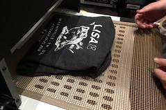 T-shirt drying