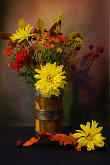 still life with chrysanths