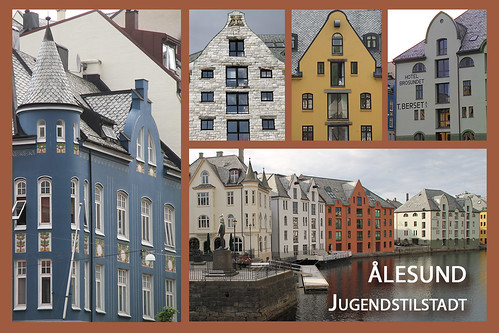 Postal card of ålesund