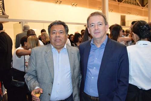 Luís Carlos Miranda,do Conselho de Administração da Usiminas, e Tulio Chipoletti, vice-presidente industrial da Usiminas