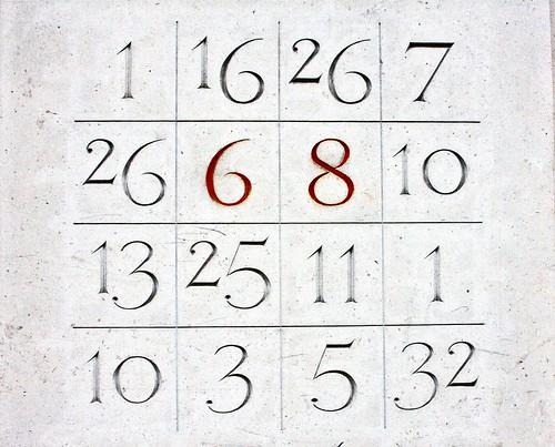 Numéro 068 carré magique