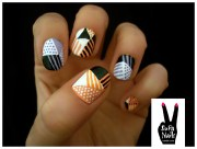 tribal nail art orange alessandro