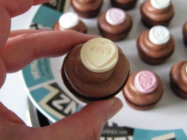 Mini Dark Choc Caramel Cupcakes