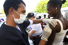 Cuban Doctors Administer Vaccinations at Camp for Displaced Haitians