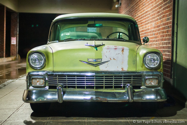 1956 Chevy Bel Air front straight on