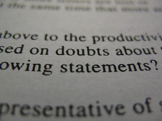 doubts...
