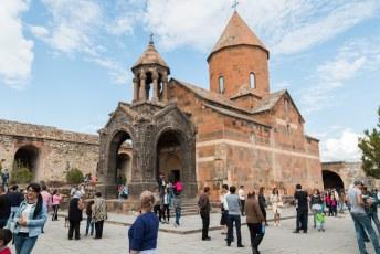We bezochten Khor Virap, gebouwd in verschillende fases vanaf de 7de eeuw.
