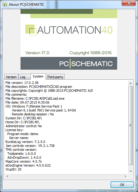 information of PCSCHEMATIC Automation v17.06 full