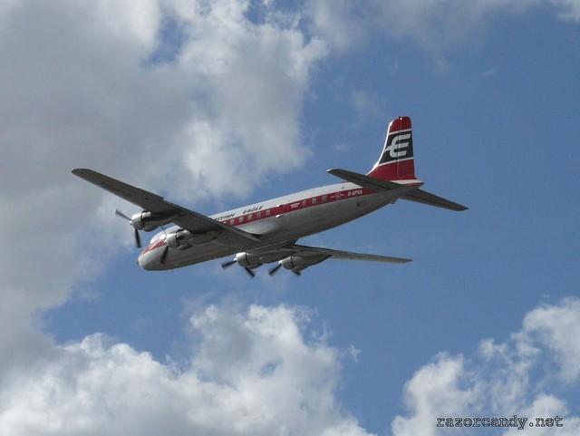 6 P1080561 British Eagle Douglas DC-6 {G-APSA} _ City Airport - 2008 (5th July)