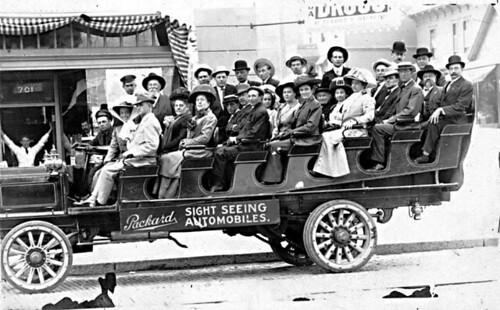 Packard tourist sightseeing car