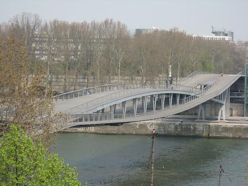 Simone de Beauvoir bridge in Paris