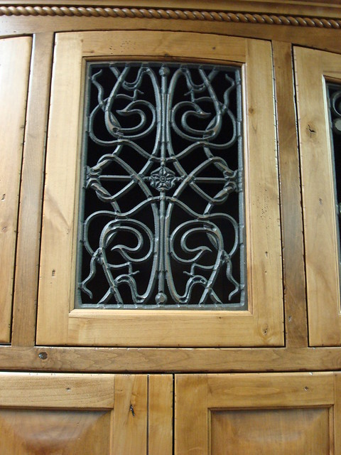 Faux Wrought Iron Cabinet Door Insert  Flickr  Photo