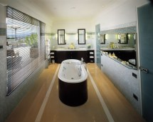 Cool Bathtub In Middle With Panoramic View