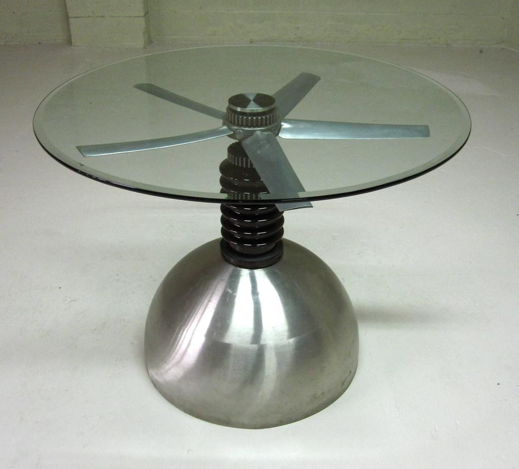 Propeller table sculpture