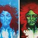 Sirens - Beauty; Truth | [diptych] Mixed Media Paintings