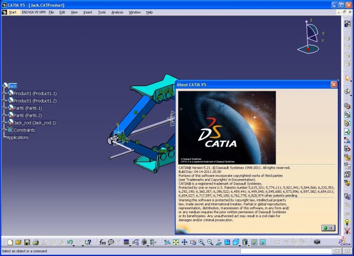 DSS CATIA P2 V5R20 GA SP0 portable full license 100% WORKING forever